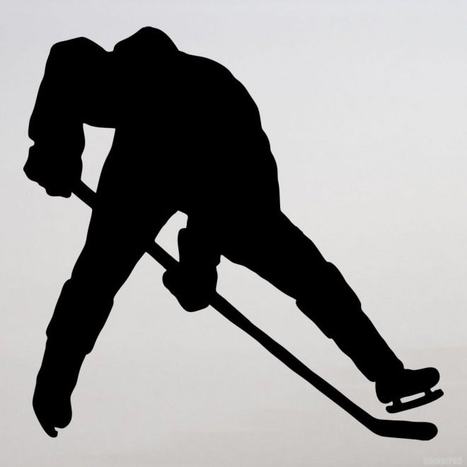 Decal hockey player, winter sports