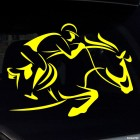 Decal show jumping rider wearing a helmet, equestrian