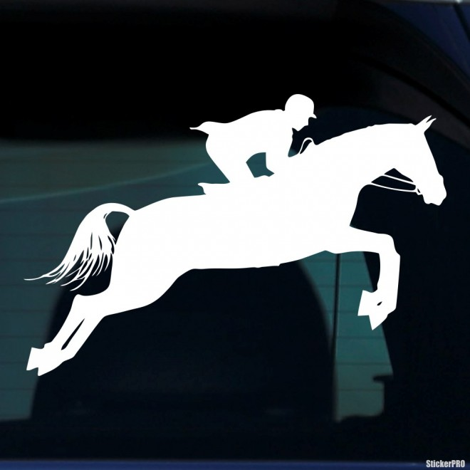 Decal show jumping horse and rider