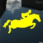 Decal show jumping horse and rider, equestrian sport