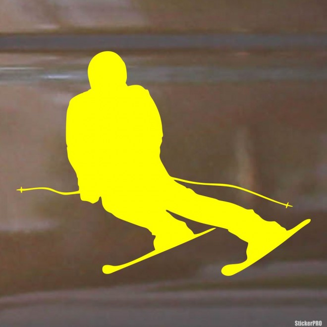 Decal skier carving, extreme winter sports