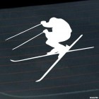 Decal freestyle skier jumps, extreme winter sports