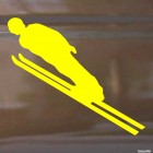 Decal skier flying, extreme winter sports