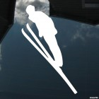 Decal skier ski jumping, extreme winter sports