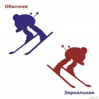 Decal downhill skier, extreme winter sports