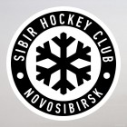 Decal SIBIR Hockey Club Novosibirsk logo with snowflake, with the substrate