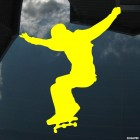 Decal skateboarder flies