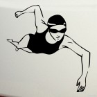 Decal swimming front crawl stroke girl