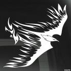 Decal flying bird with flames