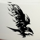 Decal bird of prey attacks flames