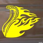 Decal snake cobra with flames