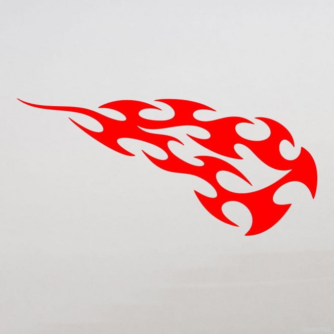 Decal flames