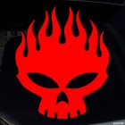 Decal skull with flames