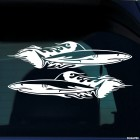 Decal 2 shark flames