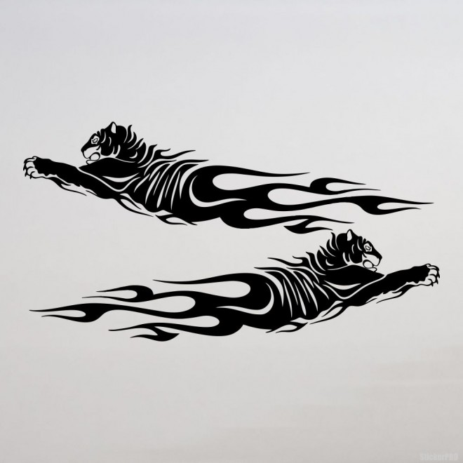 Decal 2 tiger flames