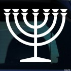Decal menorah candle lamp Judaism