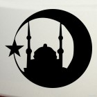Decal mosque, star and crescent Islam