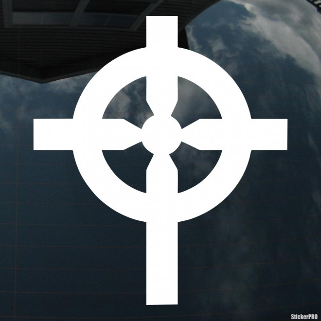 Decal celtic cross Christianity