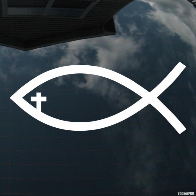 Decal ichthys fish Christianity