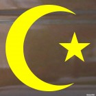 Decal star and crescent Islam