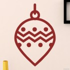 Decal christmas tree ball