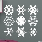 Decal 9 snowflakes