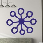 Decal snowflake 9