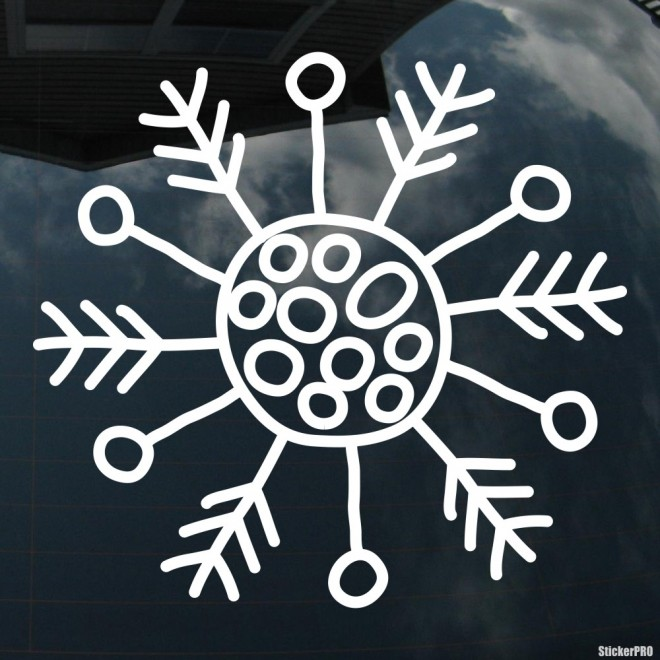 Decal snowflake 5