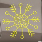 Decal snowflake 2