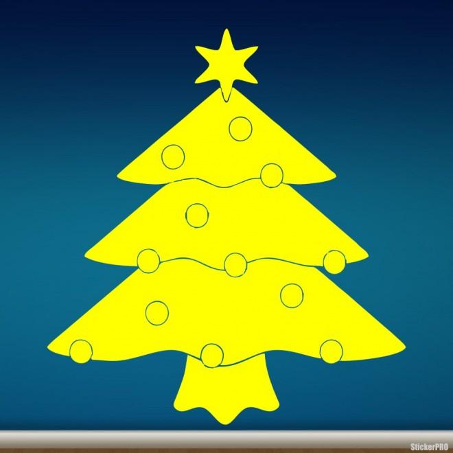 Decal christmas tree with balls