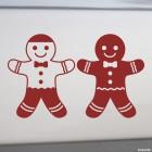 Decal Gingerbread Man 2 pcs.