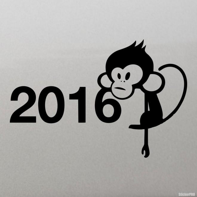Decal 2016 monkey New Yaer